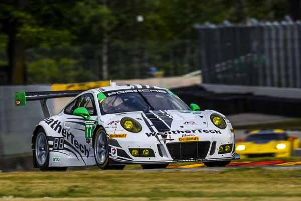 Porsche 911 GT3 R, Alex Job Racing: Gunnar Jeannette, David MacNeil