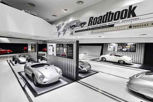 21 exhibits inform visitors about the strategic and logistical challenges when the Porsche museum travels all over the world.