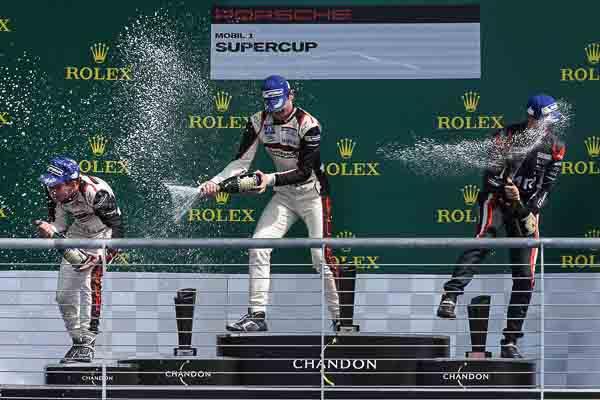 Matteo Cairoli (I) Mathieu Jaminet (F) Jeffrey Schmidt (CH) Porsche Mobil 1 Supercup Austin 2016
