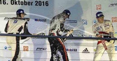 Podium: Sven Müller (D), Jeffrey Schmidt (CH), Christian Engelhart (D) Porsche Carrera Cup Deutschland - 08 Hockenheimring 2016