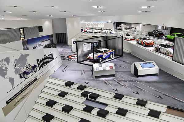 """The new special exhibition """"Roadbook. The Porsche Museum on the road around the world"""" gives a glimpse behind the """"rolling museum"""" of Zuffenhausen."""