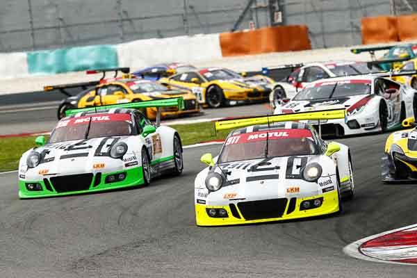 Porsche 911 GT3 R, Manthey Racing No 911: Earl Bamber, Nick Tandy, Patrick Pilet, Porsche 911 GT3 R, Manthey Racing No 912: Frederic Makowiecki, Richard Lietz, Michael Christensen