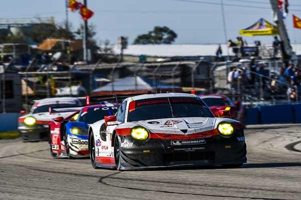 Sebring 12H - Porsche 911 RSR, Porsche GT Team (912): Laurens Vanthoor, Kevin Estre, Richard Lietz