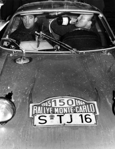 Rolf Wütherich - Günter Klass at the 1966 Rally of Monte-Carlo