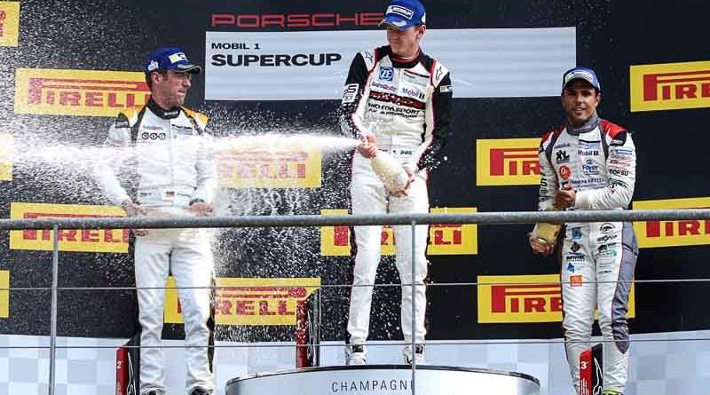 Michael Ammermüller (D), Dennis Olsen (N), Dylan Pereira (L), Porsche Mobil 1 Supercup Spa-Francorchamps 2017 Porsche Mobil1 Supercup Spa Francorchamps