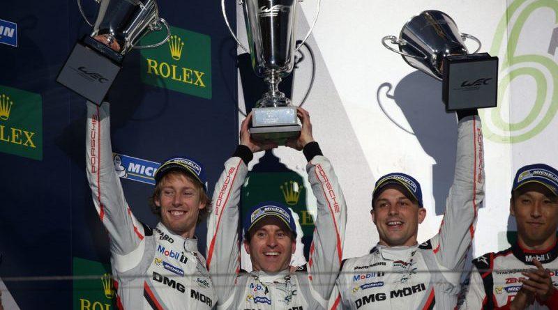 Porsche LMP Team: Brendon Hartley, Timo Bernhard, Earl Bamber (l-r)