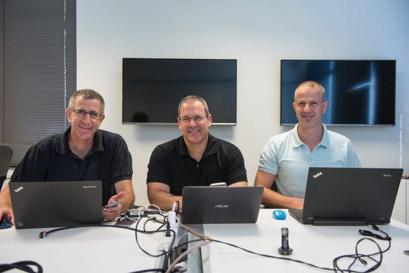 Porsche Digital Anagog Founder Yaron Aizenbud - Ofer Tziperman - Gil Levy (From left)