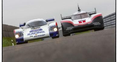 Demo Run Porsche 956 C and Porsche 919 Hybrid Evo with Timo Bernhard and Hans-Joachim Stuck