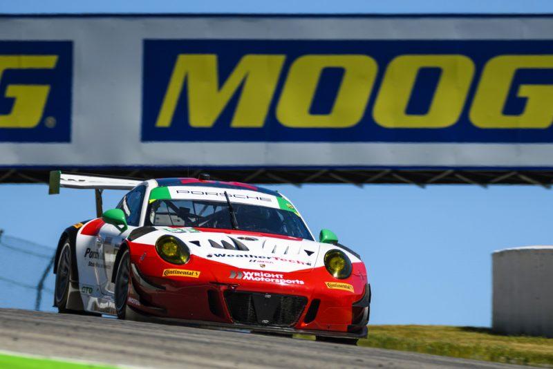 Porsche 911 GT3 R (58), Wright Motorsports Patrick Long, Christina Nielsen
