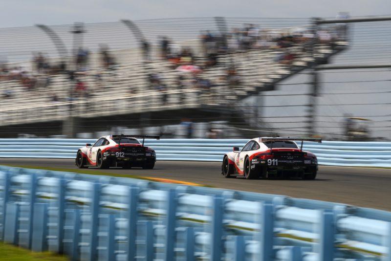 Porsche 911 RSR (912), Porsche GT Team: Earl Bamber, Laurens Vanthoor - Porsche 911 RSR (911) Patrick Pilet - Nick Tandy