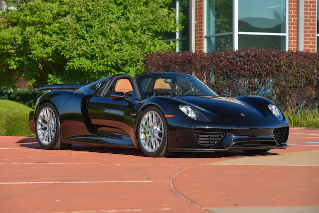 2015 Porsche 918 Weissach Spyder Bonhams Quail Lodge Auction