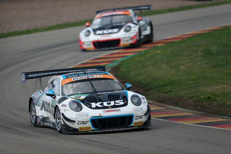 Porsche 911 GT3 R, KÜS Team75 Bernhard, Adrien de Leener (B), Klaus Bachler (A), Sachsenring 2018