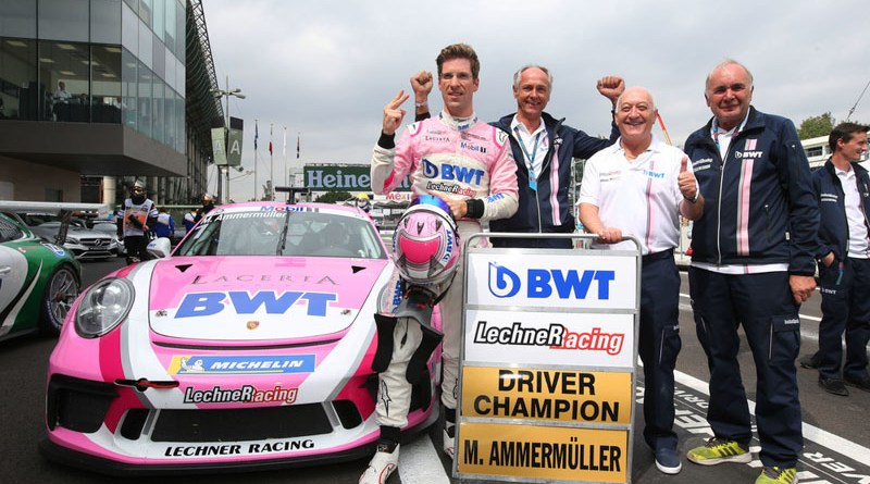 Michael Ammermüller (D), BWT Lechner Racing, Erwin Kickmaier, Walter Lechner sen., Franz Maier, Porsche Mobil 1 Supercup, Mexico 2018