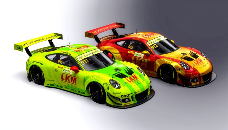Porsche 911 GT3 R, Manthey-Racing (911), Laurens Vanthoor (B), Manthey-Racing (912), Earl Bamber (NZ)
