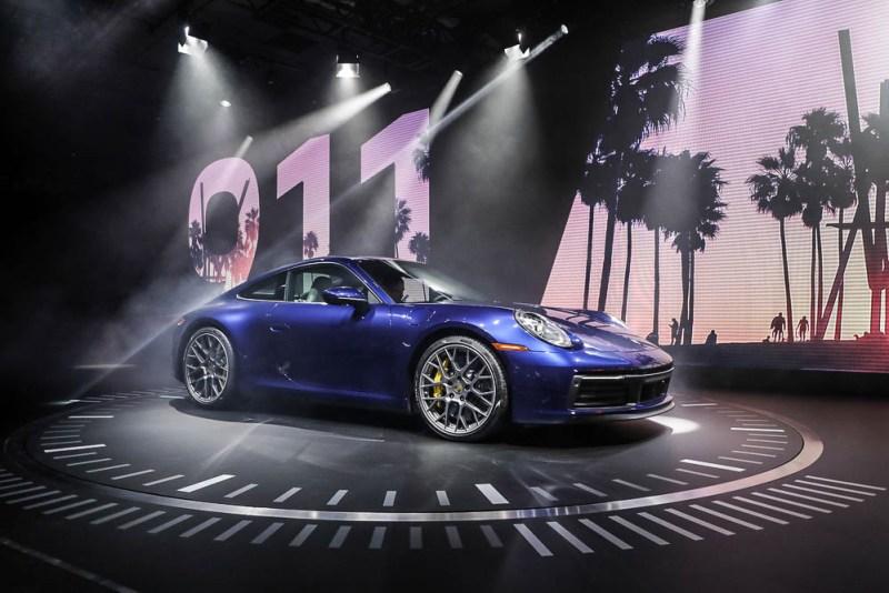 The new Porsche 911 Carrera 4S , type 992