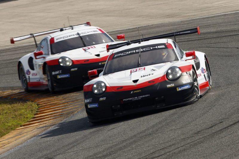 Porsche 911 RSR, Porsche GT Team (912) Earl Bamber, Mathieu Jaminet, Porsche GT Team (911) Patrick Pilet, Nick Tandy, Frederic Makowiecki