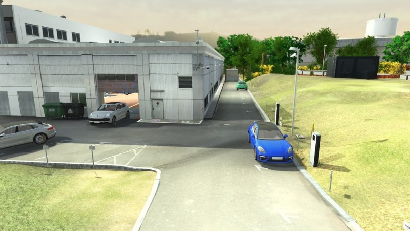 The test site including workshop environment has been created as a virtual representation