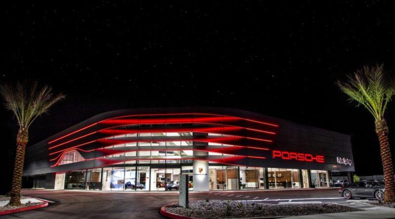 New façade of the Porsche Centre Palm Springs