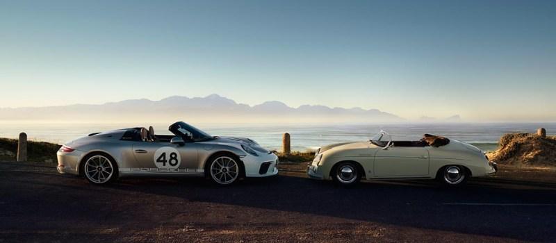Porsche 911 Speedster, Heritage Design-Package and Porsche 356 1500 Speedster