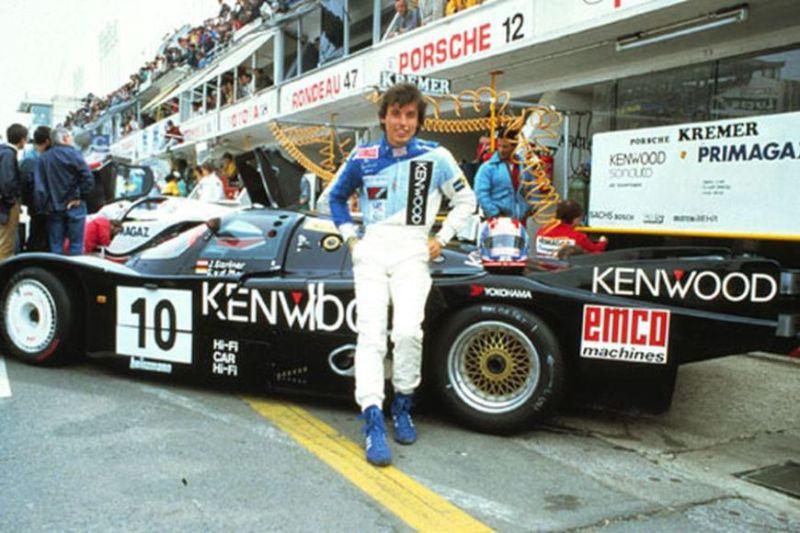 Jo Gartner and the Kremer Porsche 962C at Le Mans 24H 1986