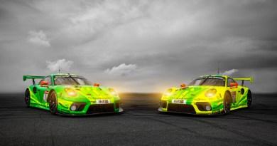 Porsche 911 GT3 R, Manthey-Racing #1, Richard Lietz (A), Frédéric Makowiecki (F), Patrick Pilet (F), Nick Tandy (GB), Manthey-Racing #911, Earl Bamber (NZ), Michael Christensen (DK), Kévin Estre (F), Laurens Vanthoor (B)