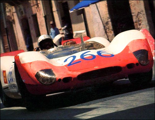 Targa Florio winner. Porsche 908-02, Gerhard Mitter and Udo Schutz