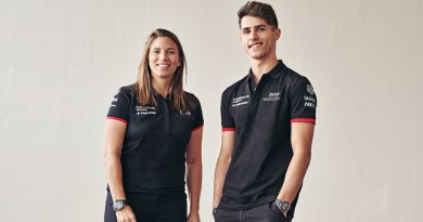 Simona De Silvestro (Porsche works driver) and Thomas Preining (Porsche Young Professional)