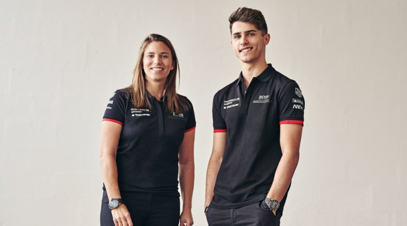 Simona De Silvestro (Porsche works driver) and Thomas Preining (Porsche Young Professional)