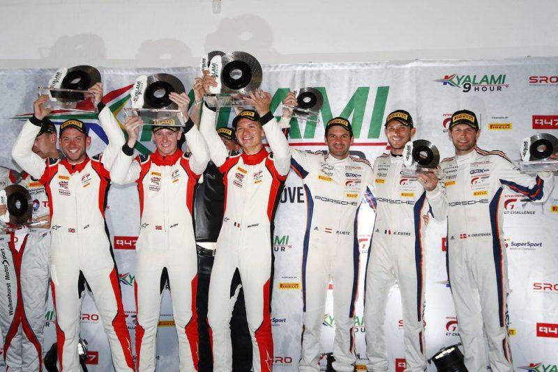 Frikadelli Racing Team (31), Nick Tandy (GB), Dennis Olsen (N), Mathieu Jaminet (F), GPX Racing (20), Richard Lietz (A), Kevin Estre (F), Michael Christensen