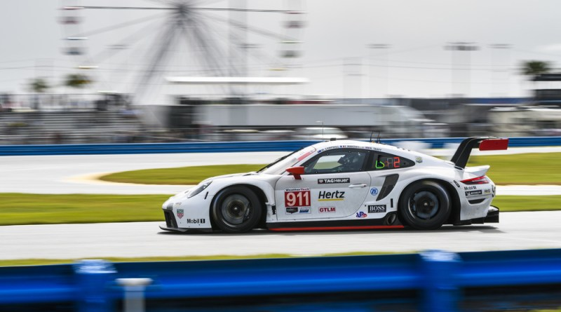 The new Porsche 911 RSR locks out front grid row at US debut