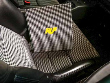 """The Very Limited and Personalized Edition,"" finished in authentic Pepita Ruf seat fabric"