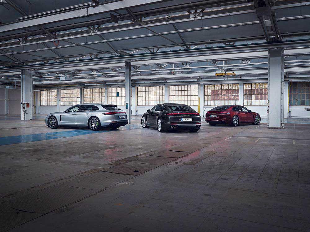 Porsche introduces new hybrid Panamera models.