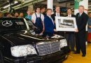 Hans Herrmann and the 10.000th Mercedes-Benz 50OE
