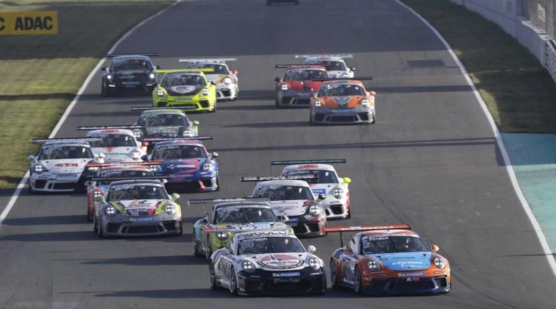 Porsche 911 GT3 Cup, Larry ten Voorde (NL), Champion of the Porsche 911 GT3 Cup, Dylan Pereira (L), Porsche Carrera Cup Deutschland, Oschersleben 2020