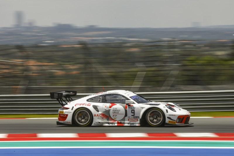 Porsche 911 GT3 R, Lechner Racing (#9), Saul Hack (ZA), Andre Bezuidenhout (ZA), Dylan Pereira (L)