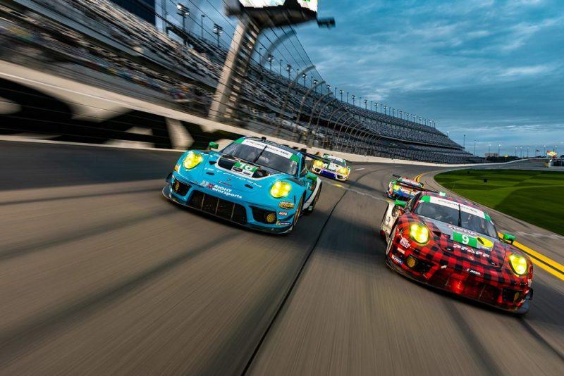 Porsche 911 GT3 R, Pfaff Motorsports #9, Wright Motorsports #16, Hardpoint EBM #88, Team TGM #64