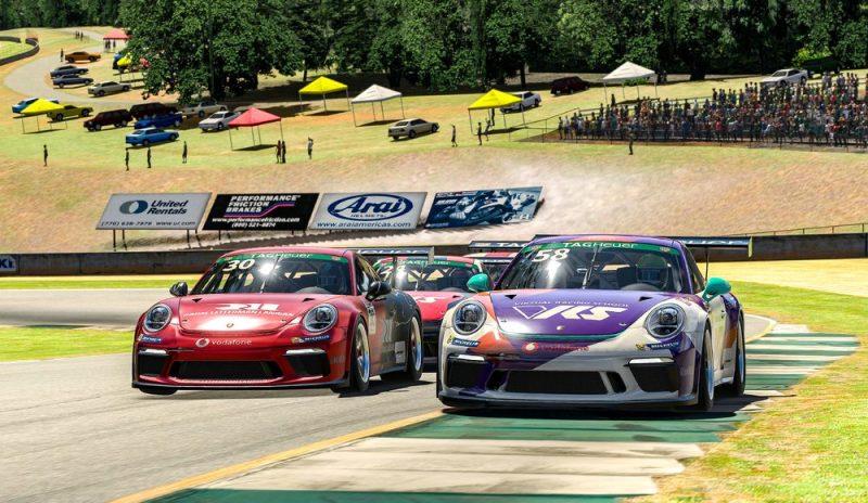 Porsche 911 GT3 Cup, Kevin Ellis Jr. (GB), #30, Tommy Ostgaard (N), #58, Porsche TAG Heuer Esports Supercup, 2021