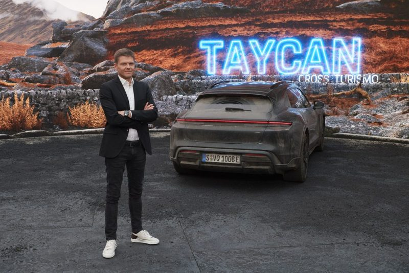 Stefan Weckbach, Vice President Product Line Taycan at the Taycan Cross Turismo world premiere.
