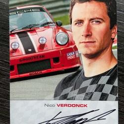 "Autographed signature card ""Niko Verdonck"""