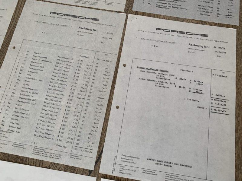 Porsche 917 sales and service documents