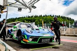 Porsche 911 GT3 R, Rutronik Racing (#21), Kevin Estre (F), Richard Lietz (A), Sven Müller (D)
