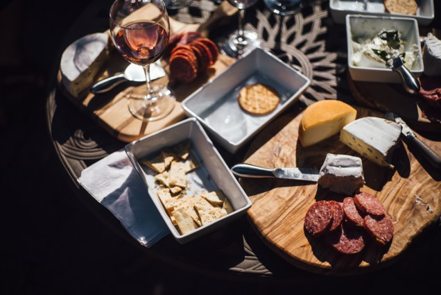 simple backyard wedding vancouver cheese food