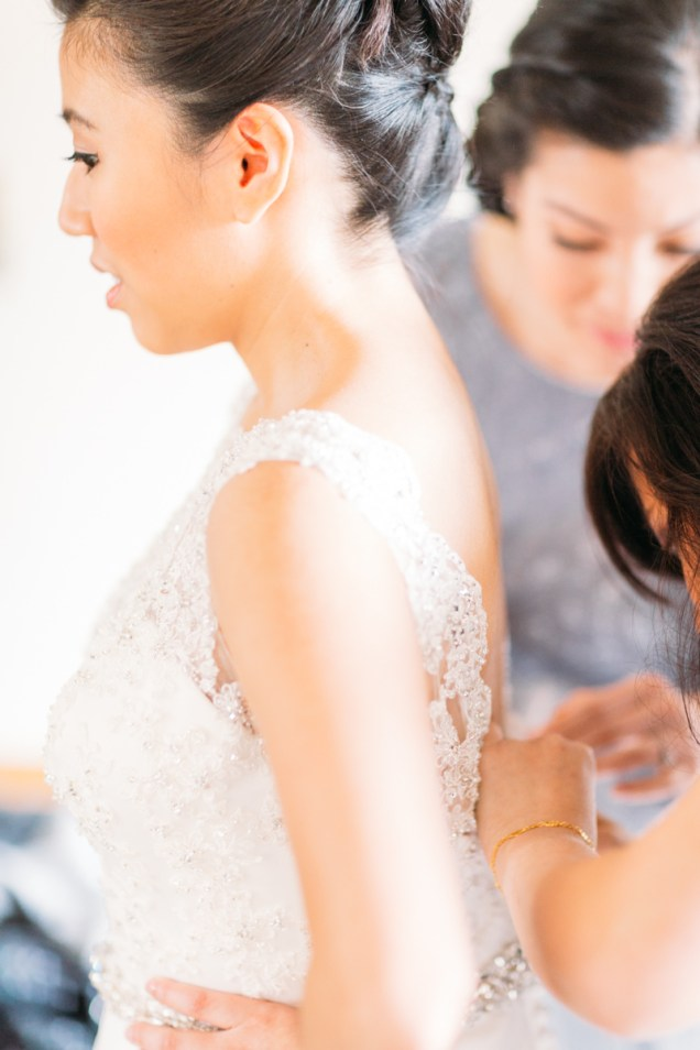 Bride getting ready for the big day