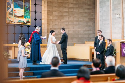 Wedding ceremony in Vancouver, BC, Canada (Shaughnessy United Church)