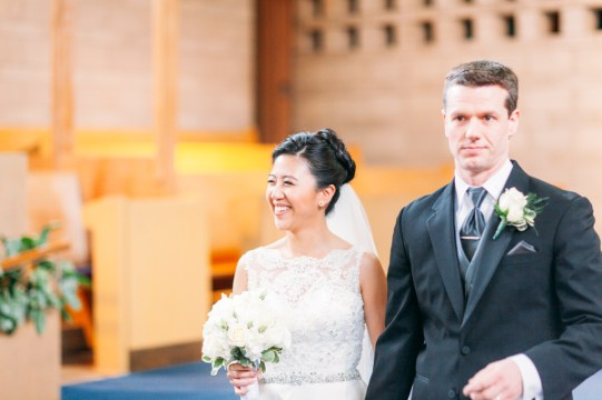 Candid shot of the newly wed (Shaughnessy United Church)