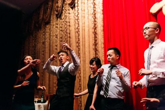 Dancing and enjoying the wedding banquet (Vancouver, BC, Canada