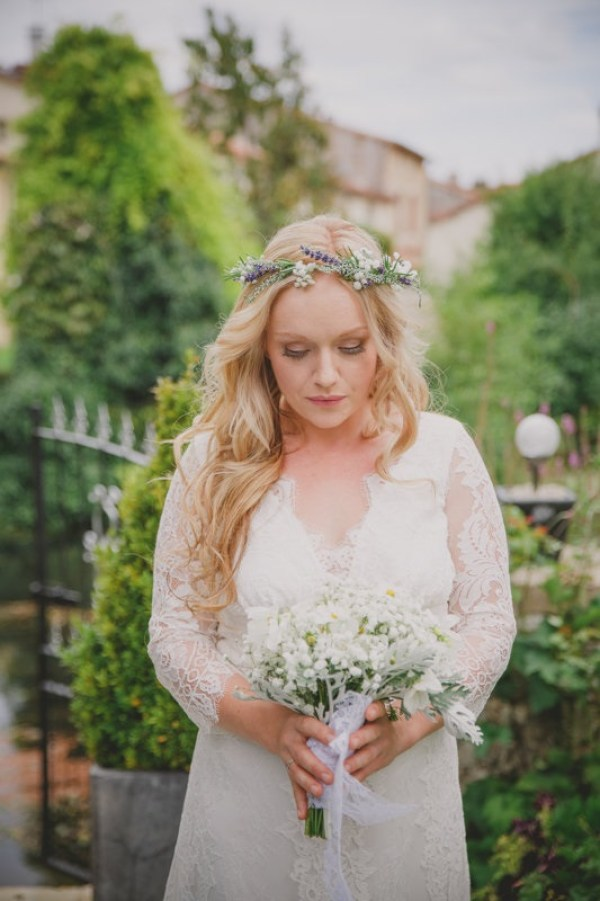 Natural wedding flowers French weddings