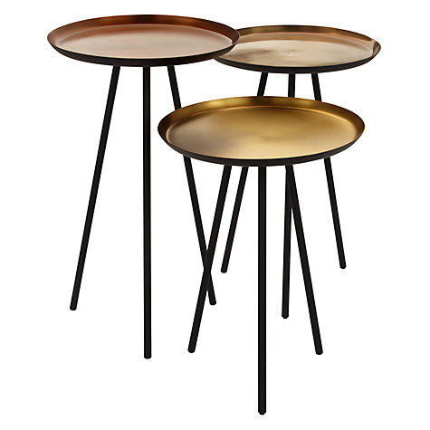 Nest of copper tables