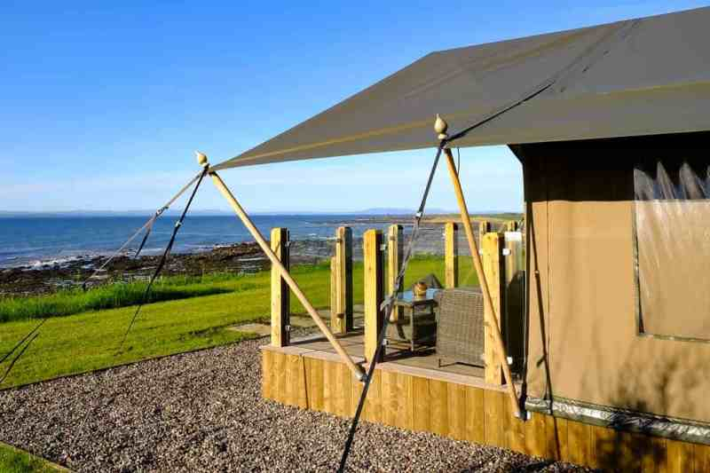 Catchpenny Safari Lodges Fife glamping in Scotland