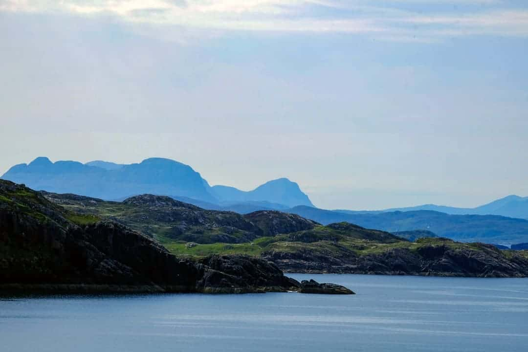 Assynt Mountains from Handa Island